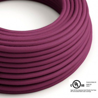 Round Electric Cable 150 ft (45,72 m) coil RC32 Burgundy Cotton - UL listed