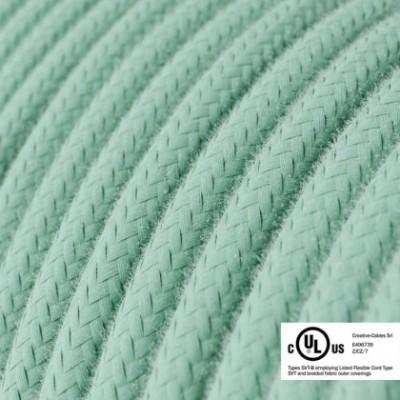 Cavo elettrico rotondo in bobina da 45,72 m (150 ft) RC34 Cotone Latte Menta - Omologato UL