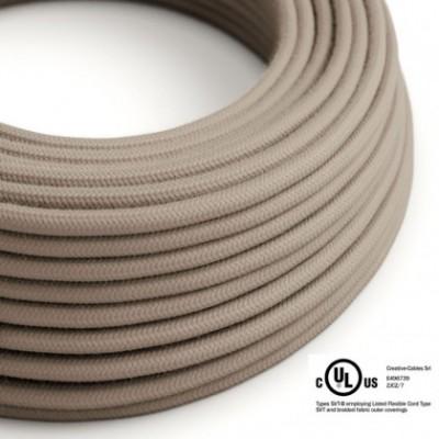 Cavo elettrico rotondo in bobina da 45,72 m (150 ft) RC43 Cotone Tortora - Omologato UL
