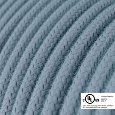 Round Electric Cable 150 ft (45,72 m) coil RC53 Ocean Cotton - UL listed