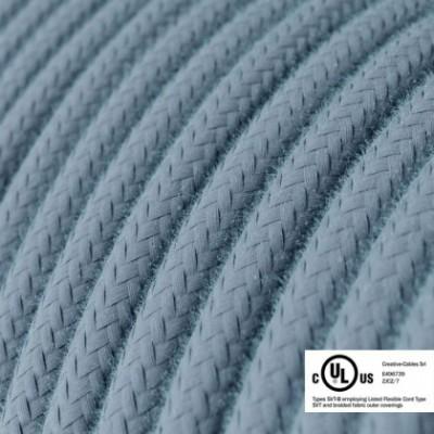 Cavo elettrico rotondo in bobina da 45,72 m (150 ft) RC53 Cotone Oceano - Omologato UL