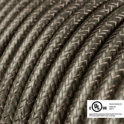 Round Electric Cable 150 ft (45,72 m) coil RL03 Glittering Grey Rayon - UL listed