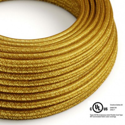 Round Electric Cable 150 ft (45,72 m) coil RL05 Glittering Gold Rayon - UL listed