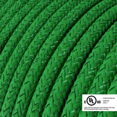 Round Electric Cable 150 ft (45,72 m) coil RL06 Glittering Green Rayon - UL listed