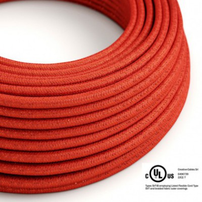 Round Electric Cable 150 ft (45,72 m) coil RL09 Glittering Red Rayon - UL listed