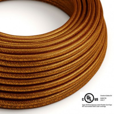 Round Electric Cable 150 ft (45,72 m) coil RL22 Glittering Copper Rayon - UL listed
