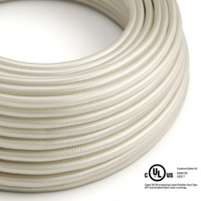 Round Electric Cable 150 ft (45,72 m) coil RM00 Ivory Rayon - UL listed