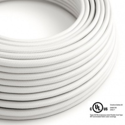 Round Electric Cable 150 ft (45,72 m) coil RM01 White Rayon - UL listed