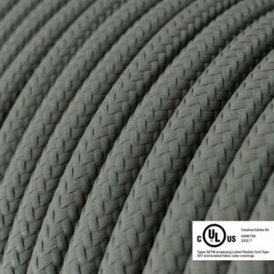 Round Electric Cable 150 ft (45,72 m) coil RM03 Grey Rayon - UL listed