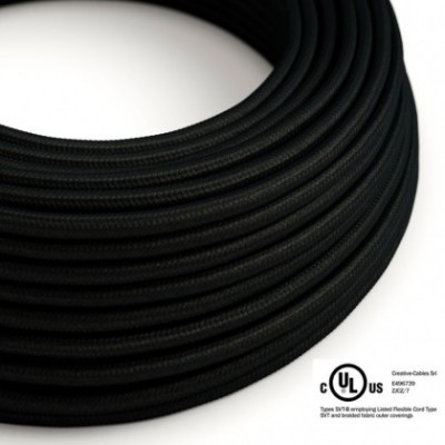 Round Electric Cable 150 ft (45,72 m) coil RM04 Black Rayon - UL listed