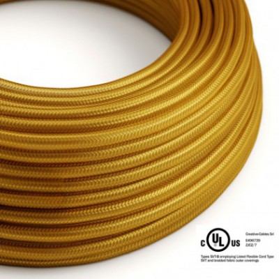 Round Electric Cable 150 ft (45,72 m) coil RM05 Gold Rayon - UL listed