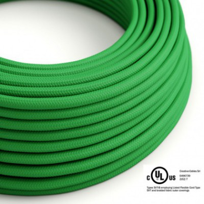 Round Electric Cable 150 ft (45,72 m) coil RM06 Green Rayon - UL listed