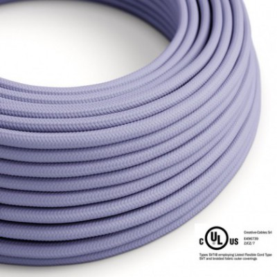 Round Electric Cable 150 ft (45,72 m) coil RM07 Lilac Rayon - UL listed