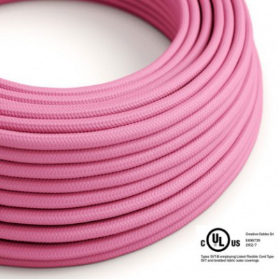 Round Electric Cable 150 ft (45,72 m) coil RM08 Fuchsia Rayon - UL listed