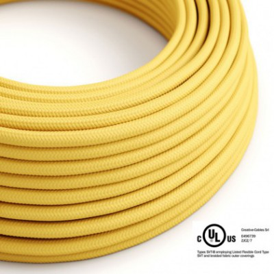 Round Electric Cable 150 ft (45,72 m) coil RM10 Yellow Rayon - UL listed