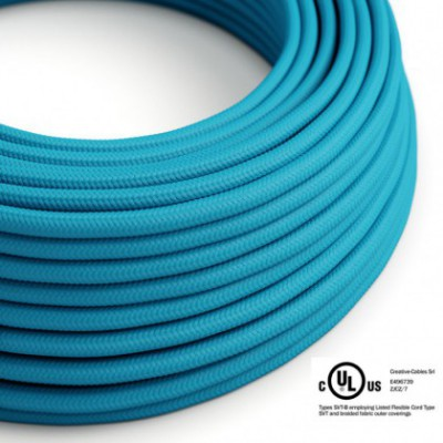 Round Electric Cable 150 ft (45,72 m) coil RM11 Cyan Rayon - UL listed