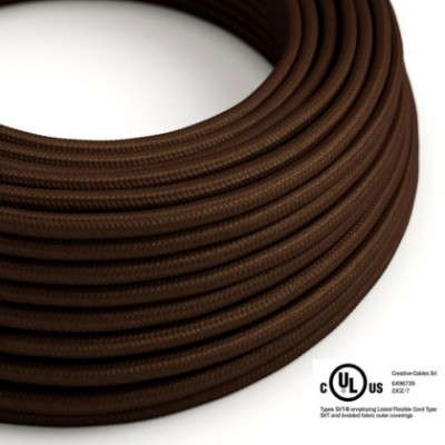 Round Electric Cable 150 ft (45,72 m) coil RM13 Brown Rayon - UL listed