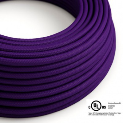 Round Electric Cable 150 ft (45,72 m) coil RM14 Violet Rayon - UL listed
