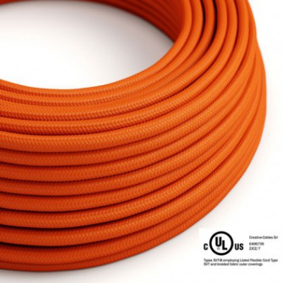 Round Electric Cable 150 ft (45,72 m) coil RM15 Orange Rayon - UL listed