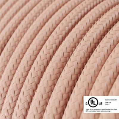 Round Electric Cable 150 ft (45,72 m) coil RM16 Baby Pink Rayon - UL listed