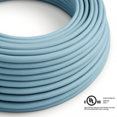 Round Electric Cable 150 ft (45,72 m) coil RM17 Baby Azure Rayon - UL listed