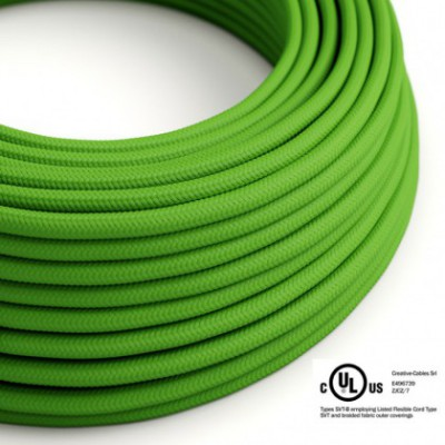 Round Electric Cable 150 ft (45,72 m) coil RM18 Green Lime Rayon - UL listed