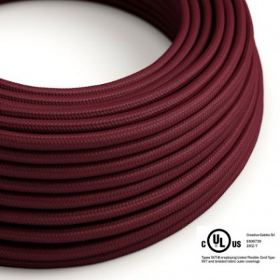 Round Electric Cable 150 ft (45,72 m) coil RM19 Burgundy Rayon - UL listed