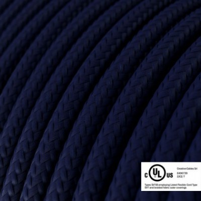 Round Electric Cable 150 ft (45,72 m) coil RM20 Dark Blue Rayon - UL listed