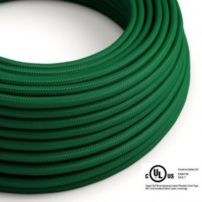 Round Electric Cable 150 ft (45,72 m) coil RM21 Dark Green Rayon - UL listed