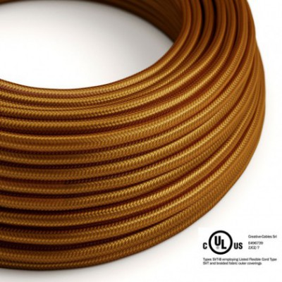Round Electric Cable 150 ft (45,72 m) coil RM22 Whiskey Rayon - UL listed