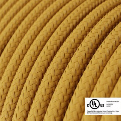Round Electric Cable 150 ft (45,72 m) coil RM25 Mustard Rayon - UL listed