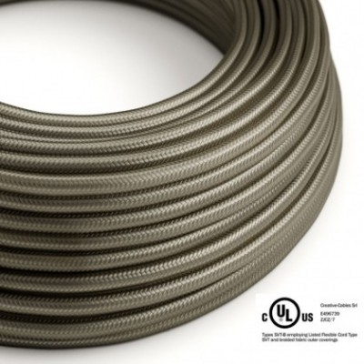 Round Electric Cable 150 ft (45,72 m) coil RM26 Dark Gray Rayon - UL listed