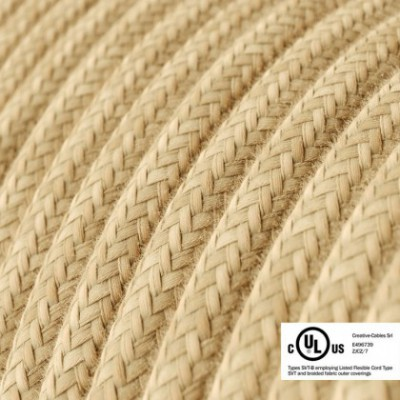 Round Electric Cable 150 ft (45,72 m) coil RN06 Jute - UL listed