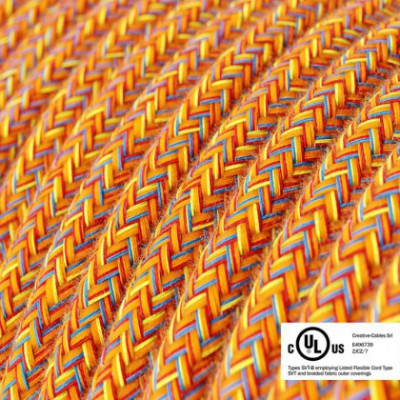 Round Electric Cable 150 ft (45,72 m) coil RX07 Indian Summer Cotton - UL listed