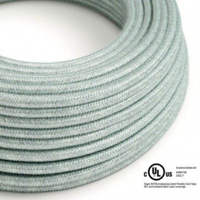 Round Electric Cable 150 ft (45,72 m) coil RX12 Blue Haze Cotton - UL listed