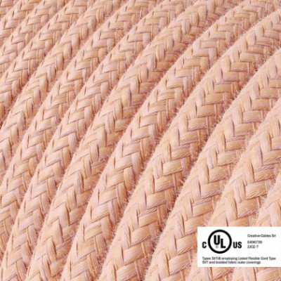Round Electric Cable 150 ft (45,72 m) coil RX13 Salmon Cotton - UL listed