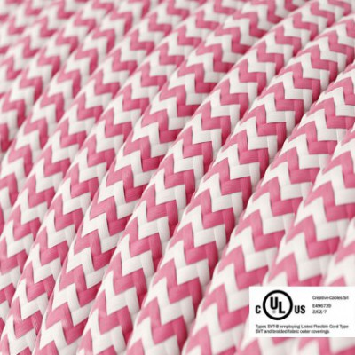 Round Electric Cable 150 ft (45,72 m) coil RZ08 ZigZag Fuchsia Rayon - UL listed