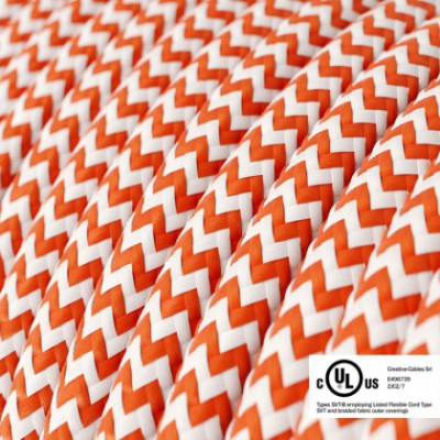 Round Electric Cable 150 ft (45,72 m) coil RZ15 ZigZag Orange Rayon - UL listed