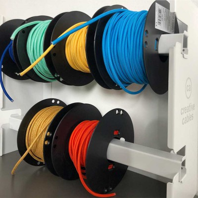 Display kit with logo for 8 reels of cable