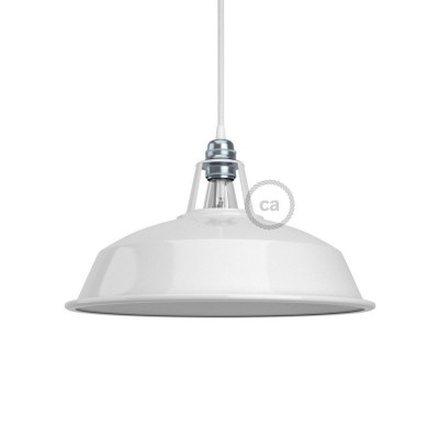 Harbour lampshade in polished metal with E27 fitting, 30 cm diameter