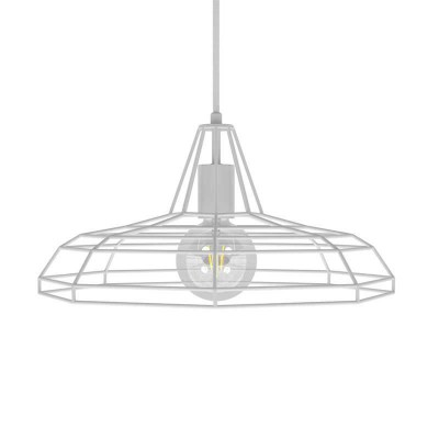 Pendant lamp with textile cable, Sonar lampshade and metal details - Made in Italy - Bulb included