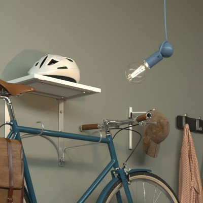 Magnetico®-Pendel suspension lamp with textile cable and adjustable magnetic lamp holder - Made in Italy - Bulb included