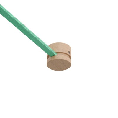 Wooden terminal block for string light cable and Filé system. Made in Italy