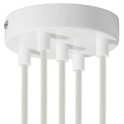 Cylindrical metal 5-hole ceiling rose kit