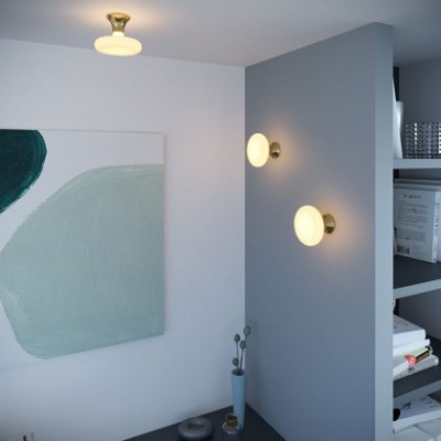 Fermaluce, thermoplastic wall or ceiling light
