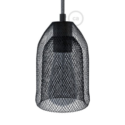Naked light bulb cage metal lampshade Ghostbell with E27 lamp holder