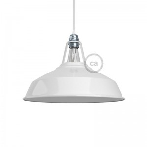 Harbour lampshade in polished metal with E27 fitting, 38 cm diameter